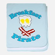 Breakfast Pirate baby blanket