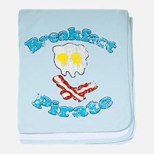 Vintage Breakfast Pirate baby blanket