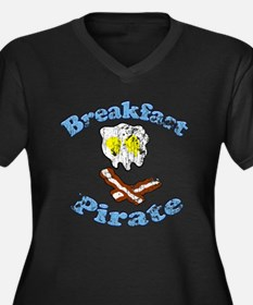 Vintage Breakfast Pirate Plus Size T-Shirt