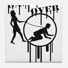 game_over_graffiti_stamp Tile Coaster