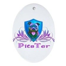 PitsTer, A Pit Bull Dog Lover Ornament (Oval)