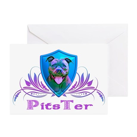 PitsTer, A Pit Bull Dog Lover Greeting Cards (Pk o