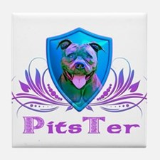 PitsTer, A Pit Bull Dog Lover Tile Coaster