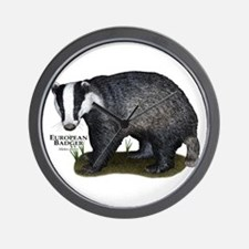 European Badger Wall Clock