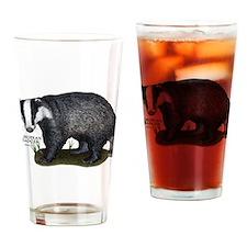 European Badger Drinking Glass