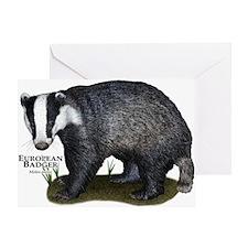 European Badger Greeting Card