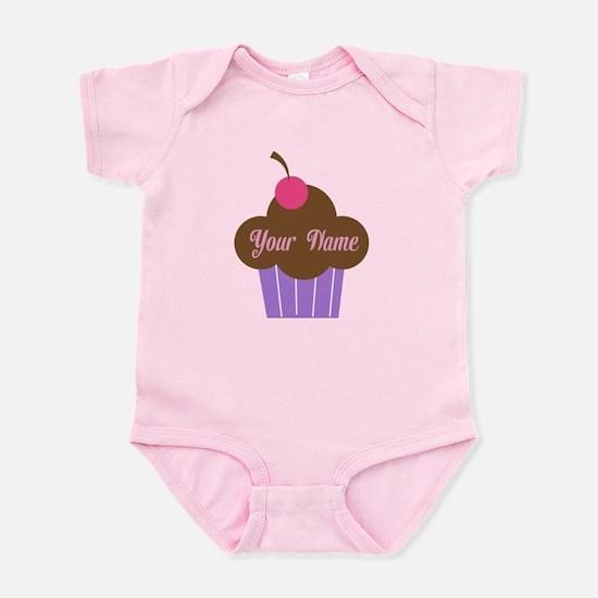 Personalized Cupcake Infant Bodysuit