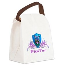 PitsTer, A Pit Bull Dog Lover Canvas Lunch Bag
