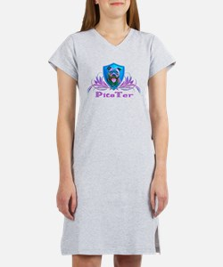 PitsTer, A Pit Bull Dog Lover Women's Nightshirt