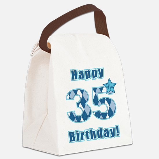 Happy 35th Birthday! Canvas Lunch Bag