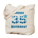 35th birthday Canvas Bags