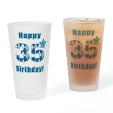 Happy 35th Birthday! Drinking Glass