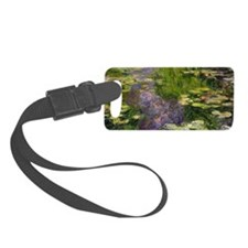 Waterlilies (oil on canvas) - Luggage Tag
