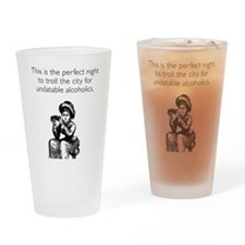 Undatable Alcoholics Drinking Glass