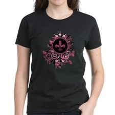 Pink Grunge Fleur T-Shirt