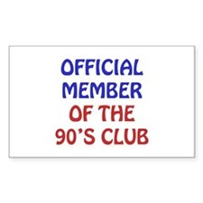 90th Birthday Official Member Decal