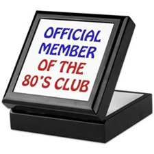 80th Birthday Official Member Keepsake Box
