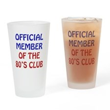 80th Birthday Official Member Drinking Glass