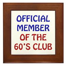 60th Birthday Official Member Framed Tile