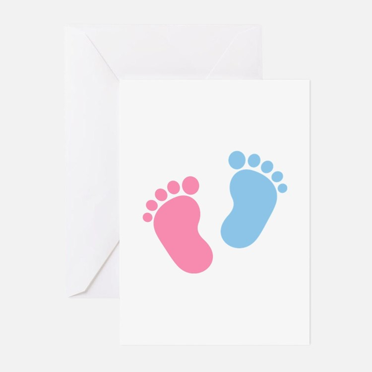 Baby feet Greeting Cards (Pk of 10)