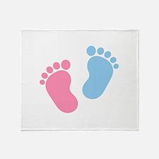 Baby feet Throw Blanket