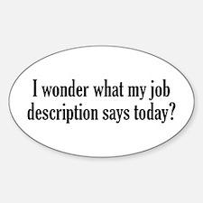 Job Description Decal