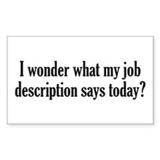 Job Description Decal