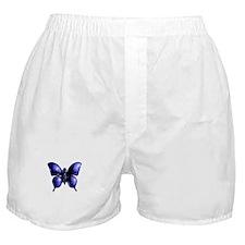 Purple Buttterfly Design Boxer Shorts