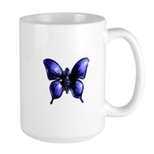 Purple Buttterfly Design Mug