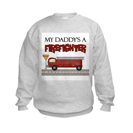 My Daddy's A Firefighter Kids Sweatshirt
