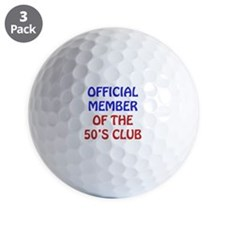50th Birthday Official Member Golf Ball