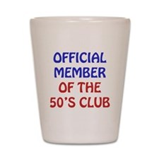 50th Birthday Official Member Shot Glass