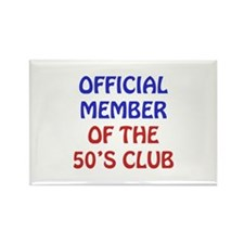 50th Birthday Official Member Rectangle Magnet