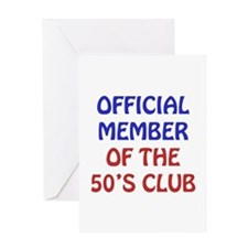 50th Birthday Official Member Greeting Card