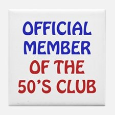 50th Birthday Official Member Tile Coaster