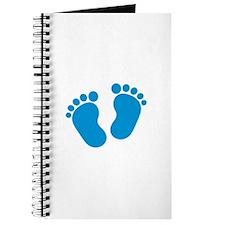 Blue baby feet Journal