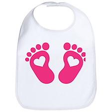 Baby feet hearts Bib