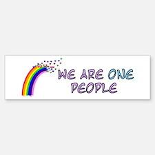 We Are One People Bumper Bumper Bumper Sticker