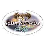 TIMEWASTER II Gamer Widow Oval Sticker