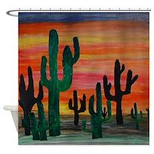 Desert Sunset Shower Curtain