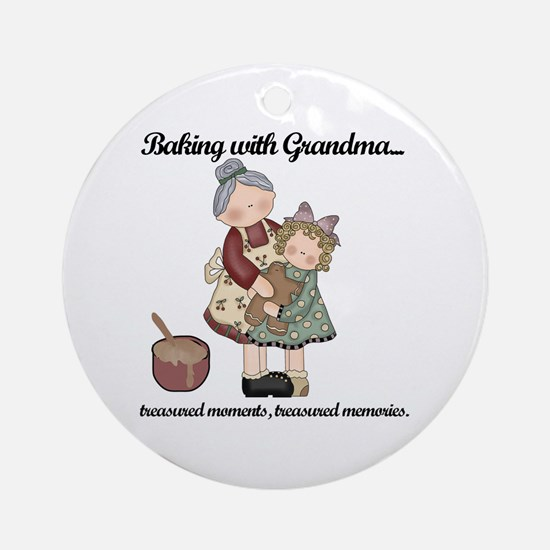 Baking with Grandma Ornament (Round)