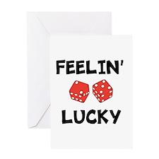FEELIN LUCKY Greeting Card