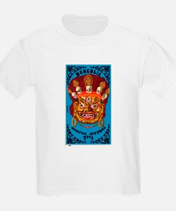 1984 Mongolian Folklore Mask Blue Postage Stamp T-