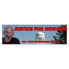 Justice for Howard Bumper Bumper Sticker