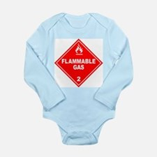 Flammable Gas Long Sleeve Infant Bodysuit