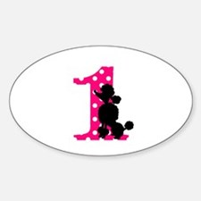 First Birthday Black and Pink Poodle Decal