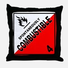 Spontaneously Combustible Throw Pillow
