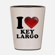 I Heart Key Largo Shot Glass