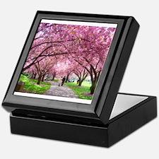 Cherry Blossom Stroll Keepsake Box