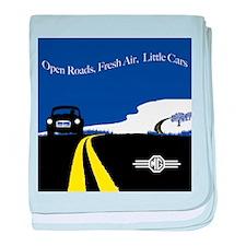 Open Roads, Fresh Air, Little Cars baby blanket